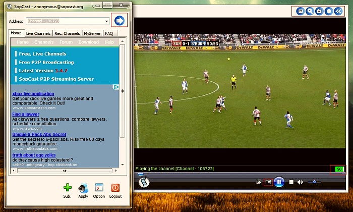 Download SopCast App and Watch Football Live Streaming for Free