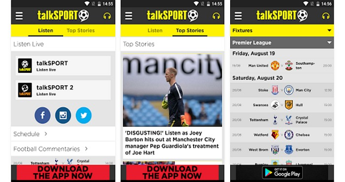 Download Talksport Radio App and Watch Football Live Streaming Free