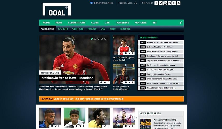 Goal.com website