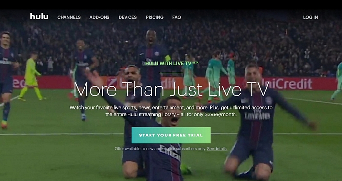 Watch football online with Hulu App for Android, iPhone and iPad